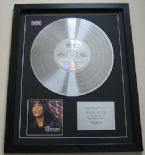 WHITNEY HOUSTON - The Bodyguard CD / PLATINUM PRESENTATION DISC